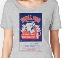 Vintage Fireworks Label: Devil Dog Firecrackers Women's Relaxed Fit T-Shirt