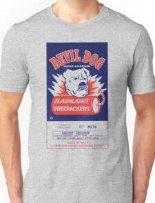 Vintage Fireworks Label: Devil Dog Firecrackers Unisex T-Shirt