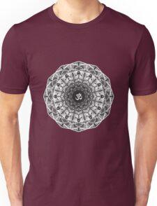 BLACK WHITE OM MANDALA Unisex T-Shirt