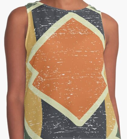 Cool Abstract Enchanting Colors and Shapes Contrast Tank