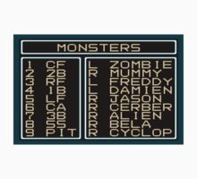 Monsters Lineup by zombill