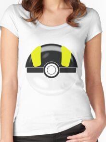 Black & Yellow Pokaball, Pokemon GO Women's Fitted Scoop T-Shirt