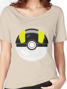 Black & Yellow Pokaball, Pokemon GO Women's Relaxed Fit T-Shirt
