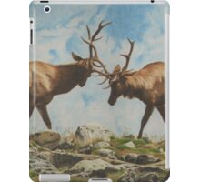 Elk Bulls Fighting iPad Case/Skin