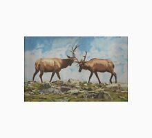 Elk Bulls Fighting Unisex T-Shirt