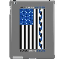 Black White and Blue All Lives Matter American Flag iPad Case/Skin