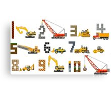 Construction Vehicles Counting - The Kids' Picture Show Canvas Print