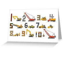 Construction Vehicles Counting - The Kids' Picture Show Greeting Card