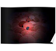 Red Poppy Flower - War Memorial Poster