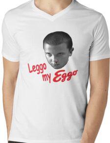 STRANGER THINGS - ELEVEN 'LEGGO MY EGGO' Mens V-Neck T-Shirt