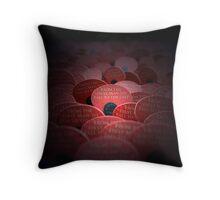 Red Poppy Flower - War Memorial Throw Pillow