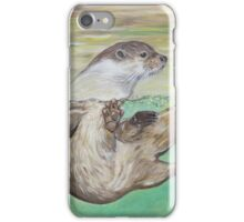 Playful River Otter iPhone Case/Skin