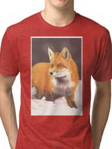 Red Fox in the Snow Tri-blend T-Shirt