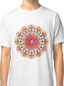 ORANGE OM MANDALA Classic T-Shirt