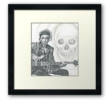 Keith Richards Pencil Drawing Framed Print