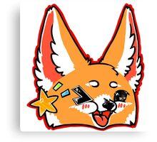 Fennec Fox Chibi Red Canvas Print