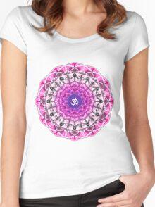 PINK OM MANDALA Women's Fitted Scoop T-Shirt