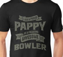 Proud Pappy of an Awesome Bowler Unisex T-Shirt