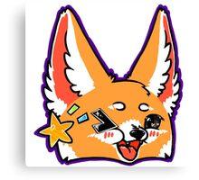 Fennec Fox Chibi Purple Canvas Print