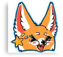 Fennec Fox Chibi Blue Canvas Print