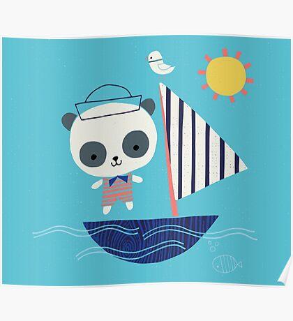 Panda Sailor Poster