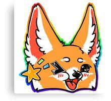 Fennec Fox Chibi Rainbow Canvas Print