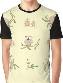 Pattern from little owls Graphic T-Shirt