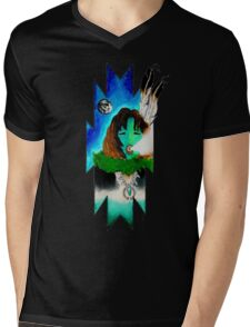 Peaceful Night Mens V-Neck T-Shirt
