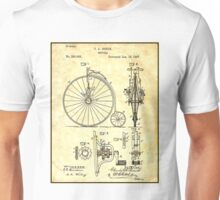 BICYCLE PATENT ; Vintage Papers Print Unisex T-Shirt