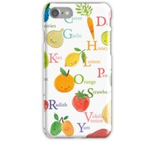 Farmer's Market A to Z (for Calendar) iPhone Case/Skin