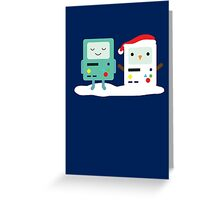 Building SnowMO (Red) Greeting Card