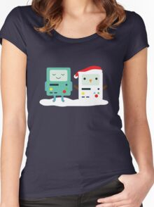 Building SnowMO (Red) Women's Fitted Scoop T-Shirt