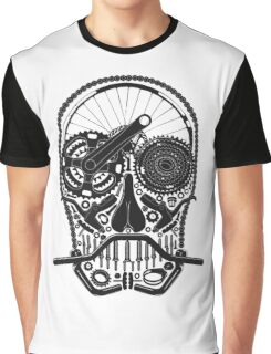Bike Parts Skull. Graphic T-Shirt