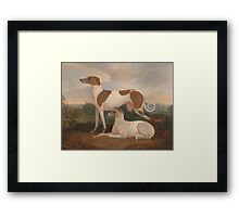 Charles Hancock - Two Greyhounds in a Landscape Framed Print