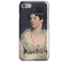 Charlotte Sophia Countess of Surrey  by studio of Sir Thomas Lawrence iPhone Case/Skin