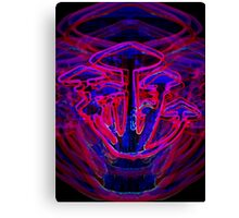 Neon Shrooms Canvas Print