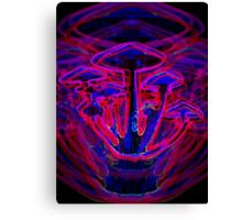 Neon Shrooms Canvas Print
