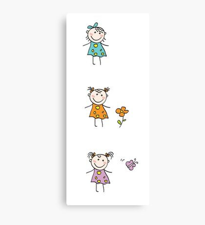 Collection of small girls Canvas Print