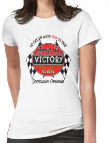 Victory Racing Gas Fuel Speedway Original Vintage Auto Car Advertising Logo Hot Rods 104 Octane Womens Fitted T-Shirt