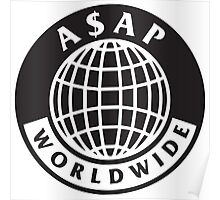 A$AP Worldwide - Logo Globe Poster