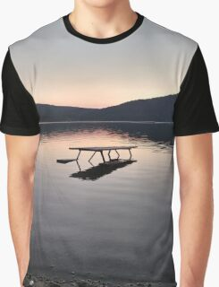 Picnic on the Lake Graphic T-Shirt