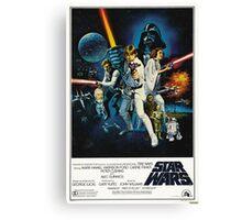 star wars poster Canvas Print