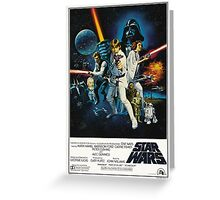 star wars poster Greeting Card