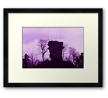 Purple Anebos - JUSTART © Framed Print