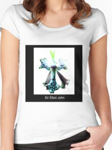 Sir Elton John II - Orchid Alien Discovery Women's Fitted Scoop T-Shirt