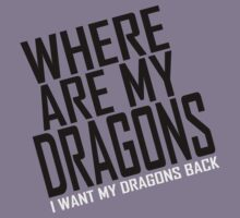 WHERE ARE MY DRAGONS - WHITE FONT by Clothos & Co.
