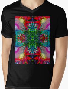 Rainbow blessing flower kaleidoscope Mens V-Neck T-Shirt
