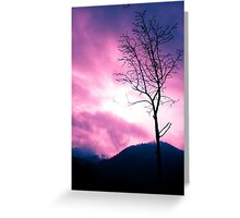 Into the Pink & Purple Sky - JUSTART © Greeting Card