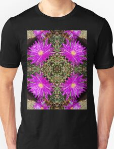 Purple flower Kaleidoscope Unisex T-Shirt