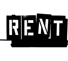 Rent Logo Photographic Print